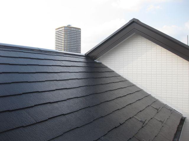 修繕+塗装完了した屋根